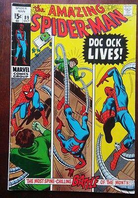 Amazing Spider-Man #89 (1970, Marvel) Doc Ock Silver Age 7.0 FN/VF Detail Grade