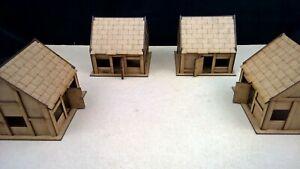 Cottage-x4-set-terrain-warhammer-AOS-28mm-wargames-wargaming-building-sigmar