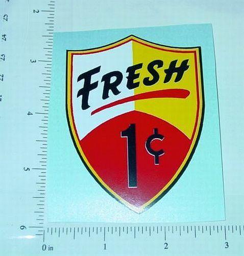 1 Cent Fresh Vending Machine Sticker               V-10