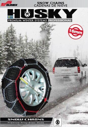 """2 Sumex Husky Invierno Profesional 16 mm 4WD cadenas para la nieve para Neumáticos Rueda Coche 21/"""""""
