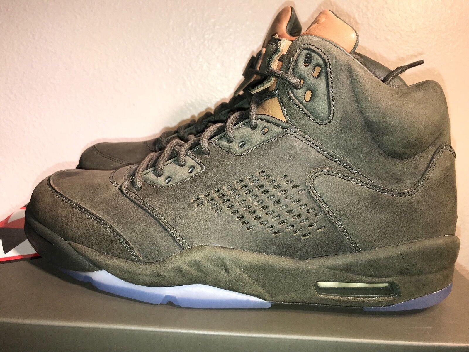 Nike Air Jordan 5 Retro Prem 881432-305 Size 10.5 Sequoia olive DS Authentic