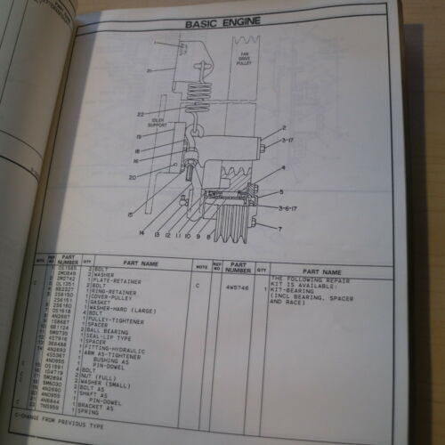 CAT Caterpillar 245B Excavator Parts Manual Catalog 6MF book trackoe crawler