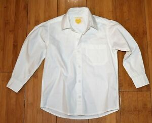 Boys designer long sleeve collared shirt  size 2-6 navy and white 100/% cotton