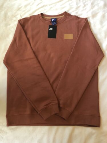 Dusty Large Nike Sweatshirt Sportswear Ah8735 Crew Top Patch Sz Peach 250 Fleece wxpwqzg