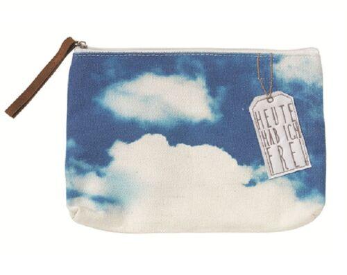 Chère petite sac roues Design 20x13,5cm cosmétiques pochettes nuages Motif Coton
