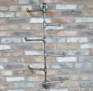 Gray Metal Hook Bar in industrial design