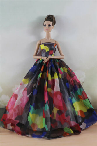 Doll Fashion Party Colorful Lovely Dress//Wedding Clothes//Gown For 11 inch