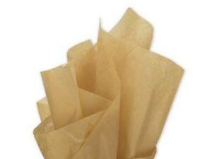 18gsm Acid Free Bleed Resistant 35x45cm Yellow Tissue Paper Wrapping Sheets