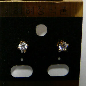 Crystal-Earring-Ear-Stud-Piercing-Fashion-Jewelry-Silver-Gold-plated-1-pair