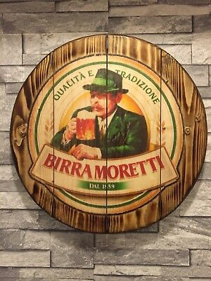 Peroni round plaque wooden sign mancave shed bar pub 14inch