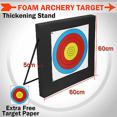 Foam Archery Target XPE High Density Portable 60 x 60 x 5cm Stand Bow Arrow Hunt