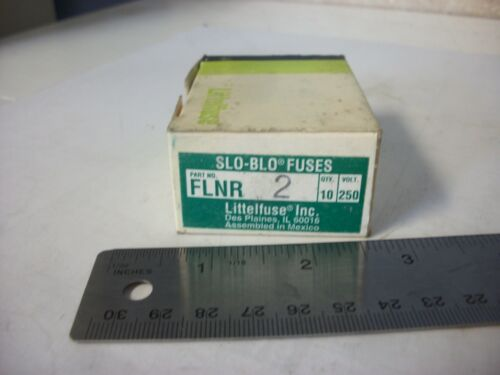 250V Box of 10 Littelfuse FLNR2 SloBlo Fuse 2 Amp Class RK5