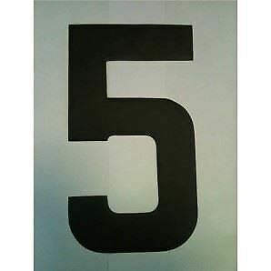 """9"""" Standard Style Race Number No.5 in Black Sold Each"""