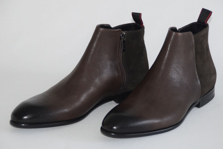 HUGO BOSS CHELSEA BOOTS, Mod. Dressapp_Zipb_grsd, Gr.   Dark Brown
