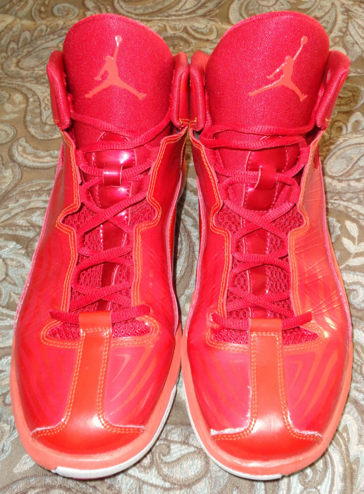 flywire utilisé nike bright jordan aero mania gym rouge / blanc bright nike crimson chaussures taille 10,5 f4445b