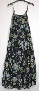 Marks-Spencer-Una-Azul-Marino-Floral-Per-amp-Bohemio-Verano-Vestido-Maxi-De-Vacaciones-tamano-6-22