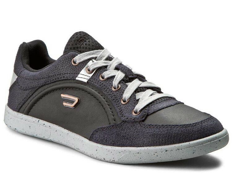 NEW DIESEL Black bluee Leather Sneakers Casual shoes shoes 43 10