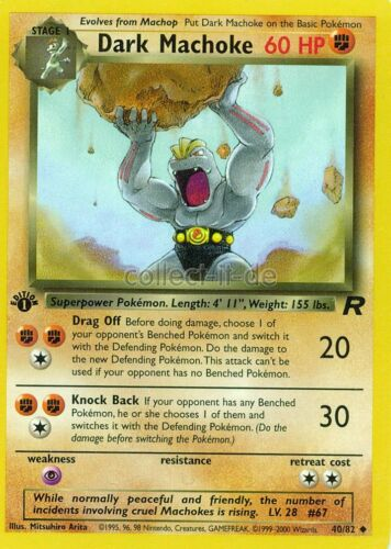 Pokemon Team Rocket First Edition //82 Dark Machoke Englisch