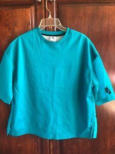 Camisa para Nike mujer corta de Xl corta turquesa manga zxFrza