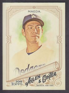 Topps-Allen-amp-Ginter-2018-Base-88-Kenta-Maeda-Los-Angeles-Dodgers