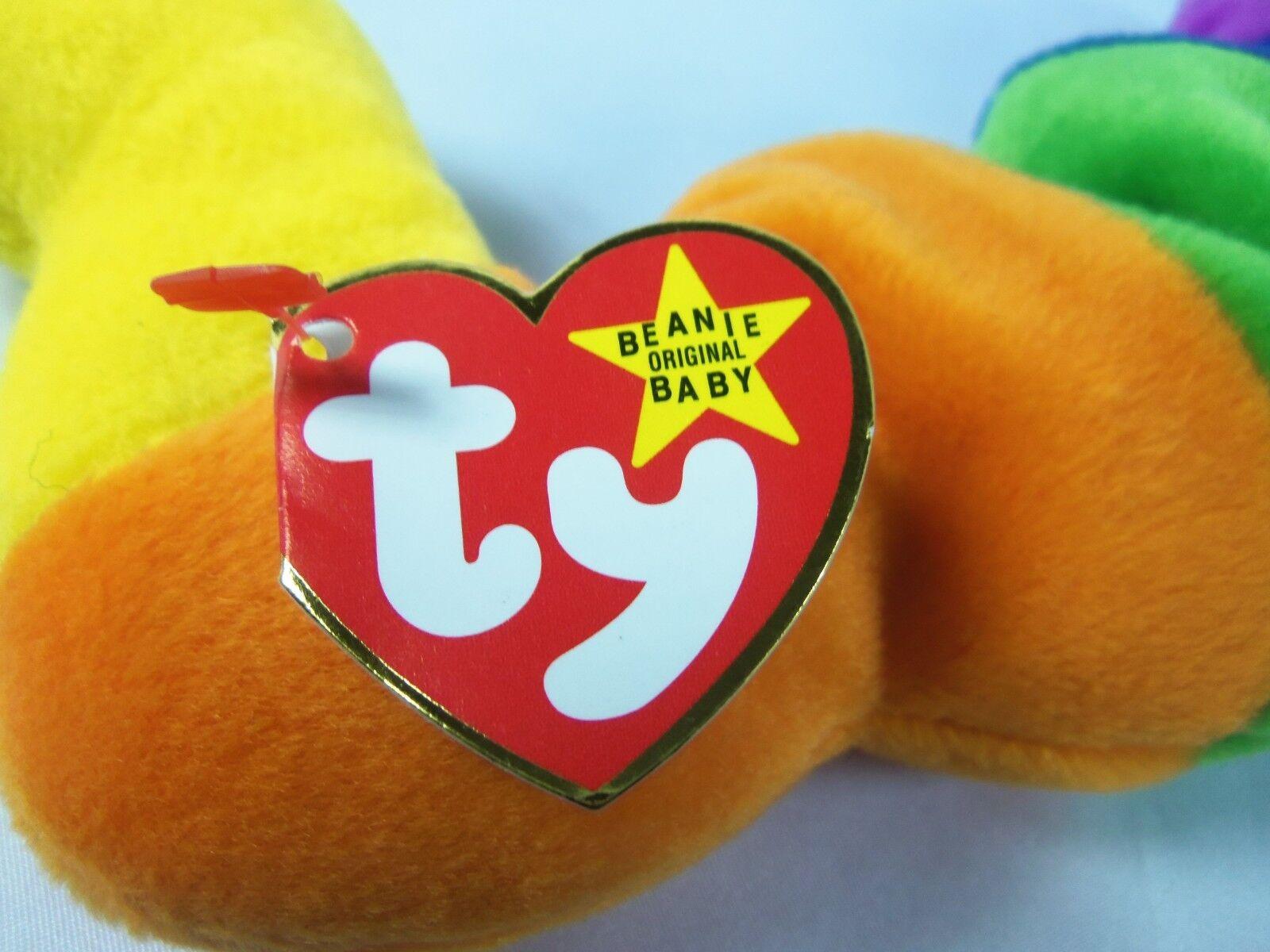 TY Beanie Baby Inch The Inchworm 1995 1995 1995  P.V.C. Plush Pellets  RETIRED 6d4713