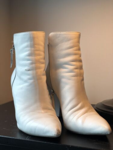 White Ankle Boots White Boots Booties