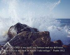 Religious Motivational Poster Print Art Jesus Christ Church Psalm 18:2  RELG22