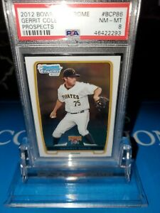 PSA-8-MINT-GERRIT-COLE-2012-1st-Bowman-Chrome-Prospects-BCP86-RC-Rookie-Yanks