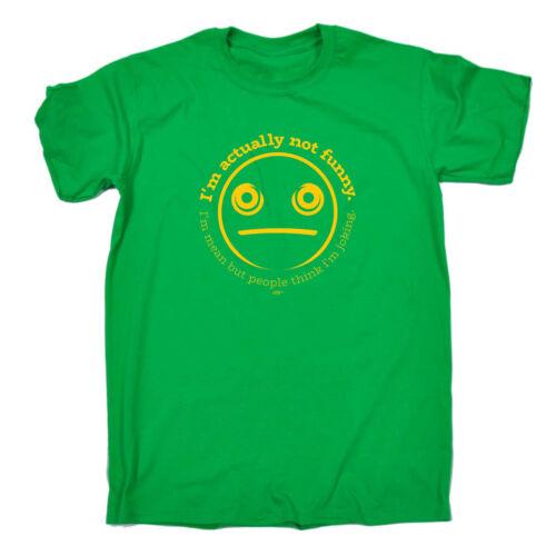 Divertenti Novità T-Shirt UOMO Tee T-Shirt-IM in realtà non Divertente Im Media