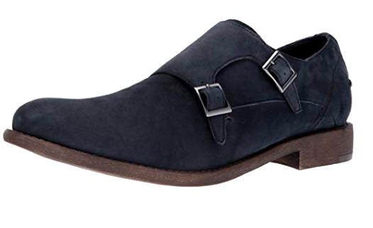 Kenneth Cole REACTION Men's Design 20644 Monk-Strap Loafer, Navy, 8.5 M US