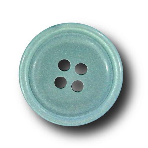 dezentem Glitzer 10 attraktive Kunststoffknöpfe silber blau m 2228bl