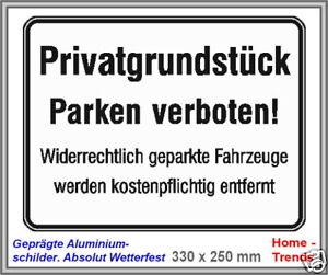 Automobilia Parkverbot-privatgrundstück-parkplatzschild-alu-schild-33 X 25 Cm-warnschild-top Geeignet FüR MäNner Dekoration Frauen Und Kinder
