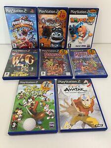 PS2-Retro-Bundle-Children-s-Games-x8-Scooby-Doo-Crazy-Frog-Power-Rangers-Worms