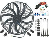 16 Inch Electric 12 Volt Radiator Fan & 180'f Thermostat Kit 3/8 Inch Npt Plug