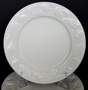 Lynns-China-Seashore-4-Dinner-Plates-Embossed-Shells-10-5-in-More-Pieces-Avail