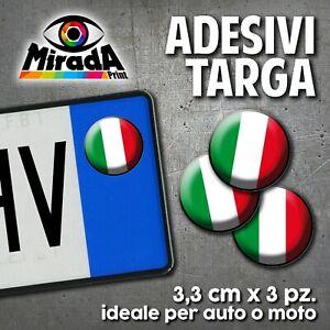 ADESIVI-STICKERS-BOLLINO-TARGA-BANDIERA-ITALIA-TRICOLORE-FLAG-AUTO-MOTO-PLATE