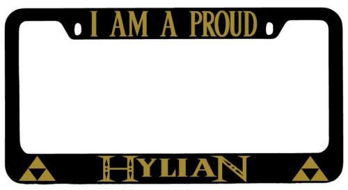 I Am A Proud Hylian Black METAL License Plate Frame Legend Of Zelda