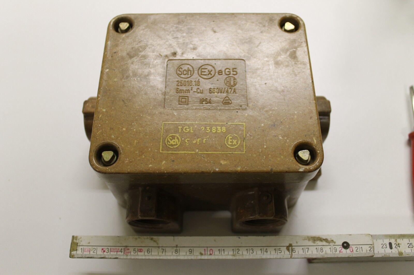 DDR Abzweigkasten schlagwetter- und explosionsgeschützt TGL 23838 6mm² Cu  AS-C