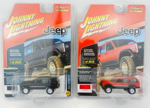 Johnny Lightning *BLACK /& RED* JEEP CHEROKEE SET 4x4 *2018 mc2-toys EXCLUSIVE*