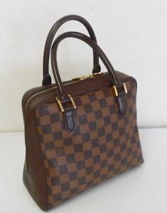 Image Is Loading Louis Vuitton Toile Damier Brera Handbag Purse Brown