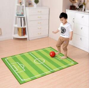 Image Is Loading Kids Rug Children 039 S Play Football Pitch