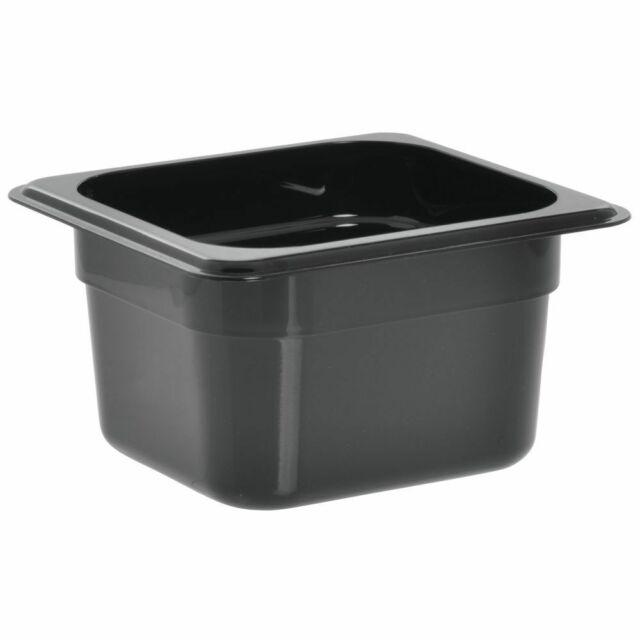 8 Lot Carlisle 1 6 Size 4 In Deep Black Food Pan