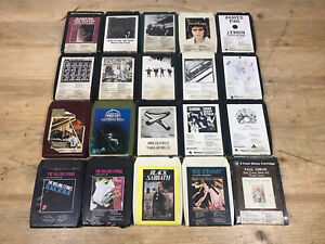 Rare 8 Track Tape Cartridge Bundle 20x Stones, Black Sabbath, Beatles, Dylan