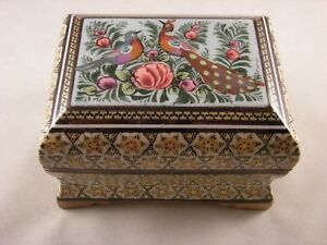 Persian-Miniature-Hand-Painting-Khatam-Inlaid-Handmade-Jewelry-Trinket-Gift-Box