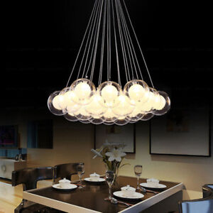 Details About Gl Ball Modern Pendant Lamp G4 Bubble Chandelier For Restaurant Coffee