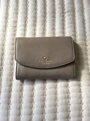 New Kate Spade Joy Larchmont Avenue Pebble Leather wallet City Scape