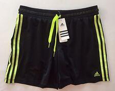 Adidas Performance Shorts Climalite Medium Black Yellow Running Athletic NWT
