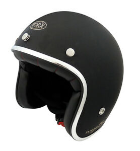 CASQUE-WYATT-HARLEY-custom-cafe-racer-XS-53-54-CM-look-vintage-HOMOLOGUe