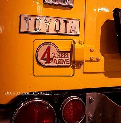 1969-1980 Land Cruiser 4 WHEEL DRIVE Rear Emblem OEM Toyota 75453-60012