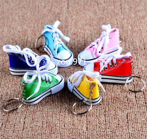 Canvas Mini Hi Top Sneaker Tennis Shoe Key Chain Choose Color KeyChain